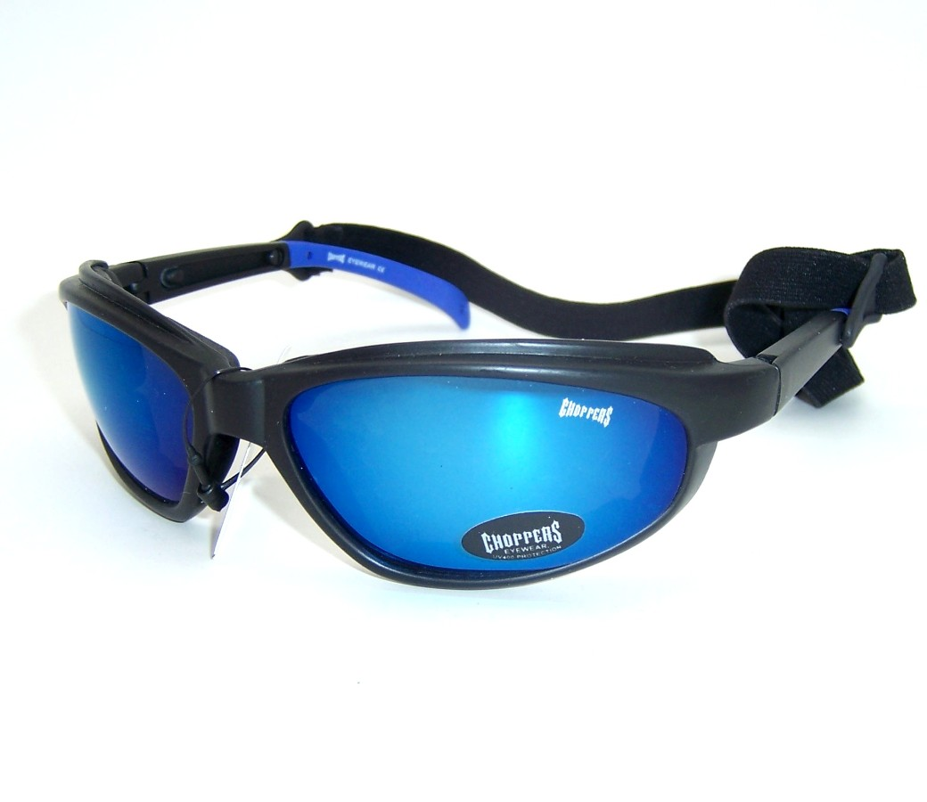 Choppers Goggles Foam Padded Sunglasses (Polycarbonate Lens) CHOP129A