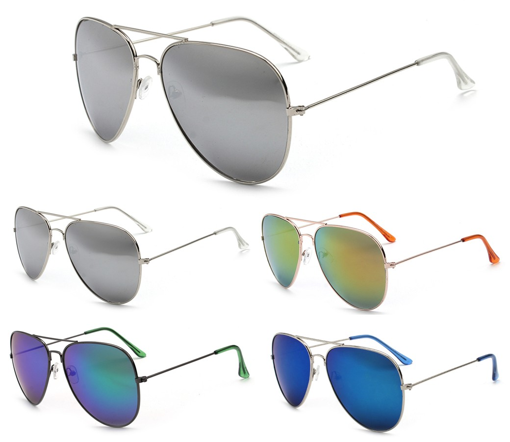 Aviator Metal Tinted Lense Sunglasses AV009-2