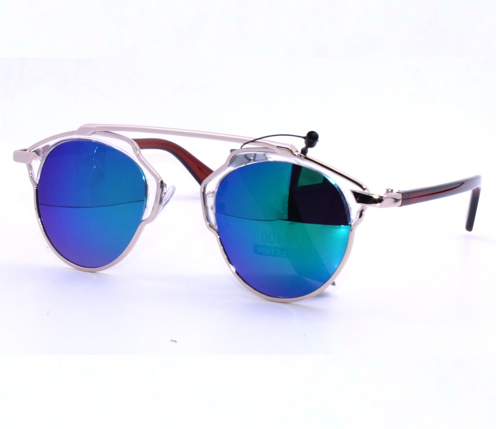 Designer Fashion Metal Sunglasses FM2115-2