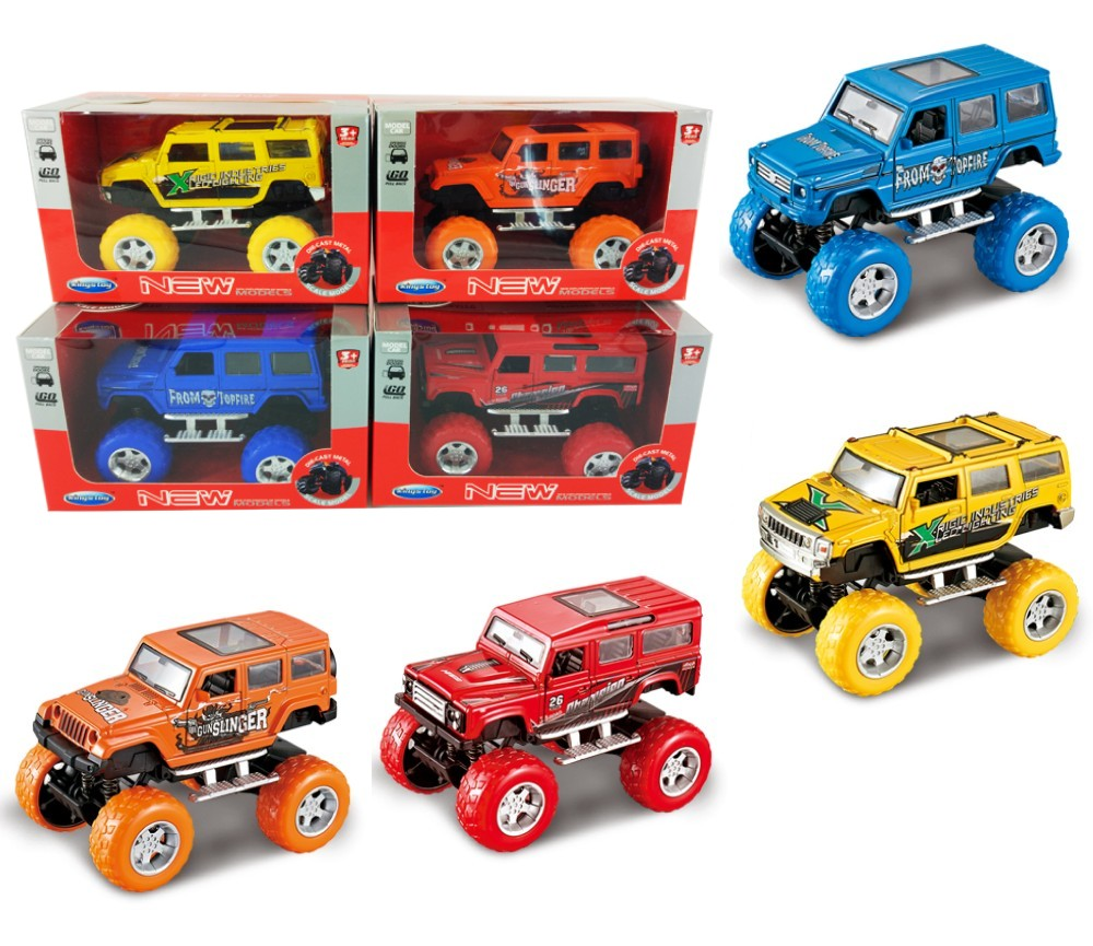 1:36 Diecast Off-Road Cars 4 colours assorted (Wrangler, Hummer, Benz, Startech) FY6018GW
