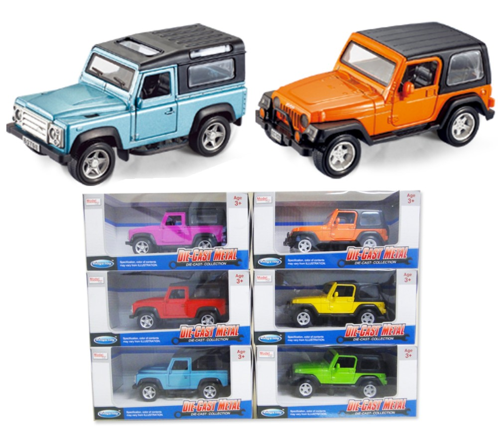1:32 Diecast Cars 4WD 3 Asst. (Wrangler, Land Rover Defender) FY80708AW