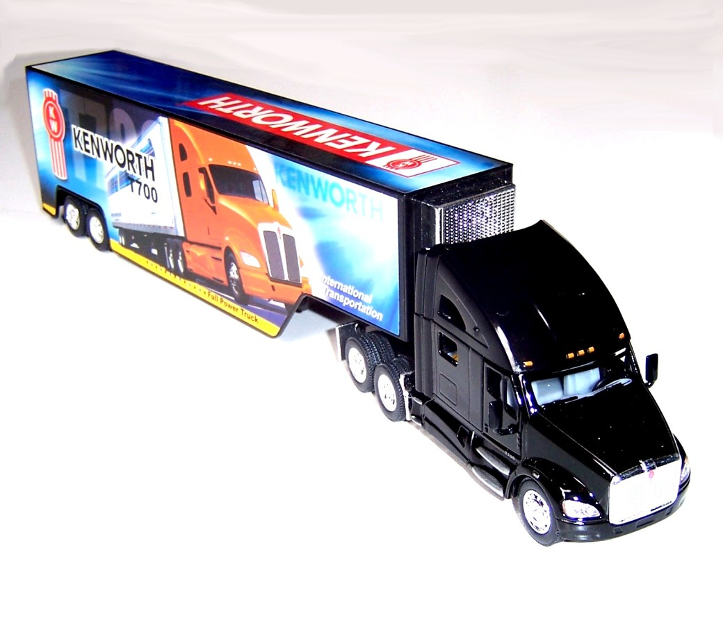 1:68 Kenworth Truck with Container T700 KT1302D