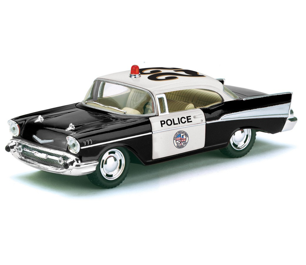 1957 Chevrolet Bel Air Police Car 1:40 Diecast Model (5