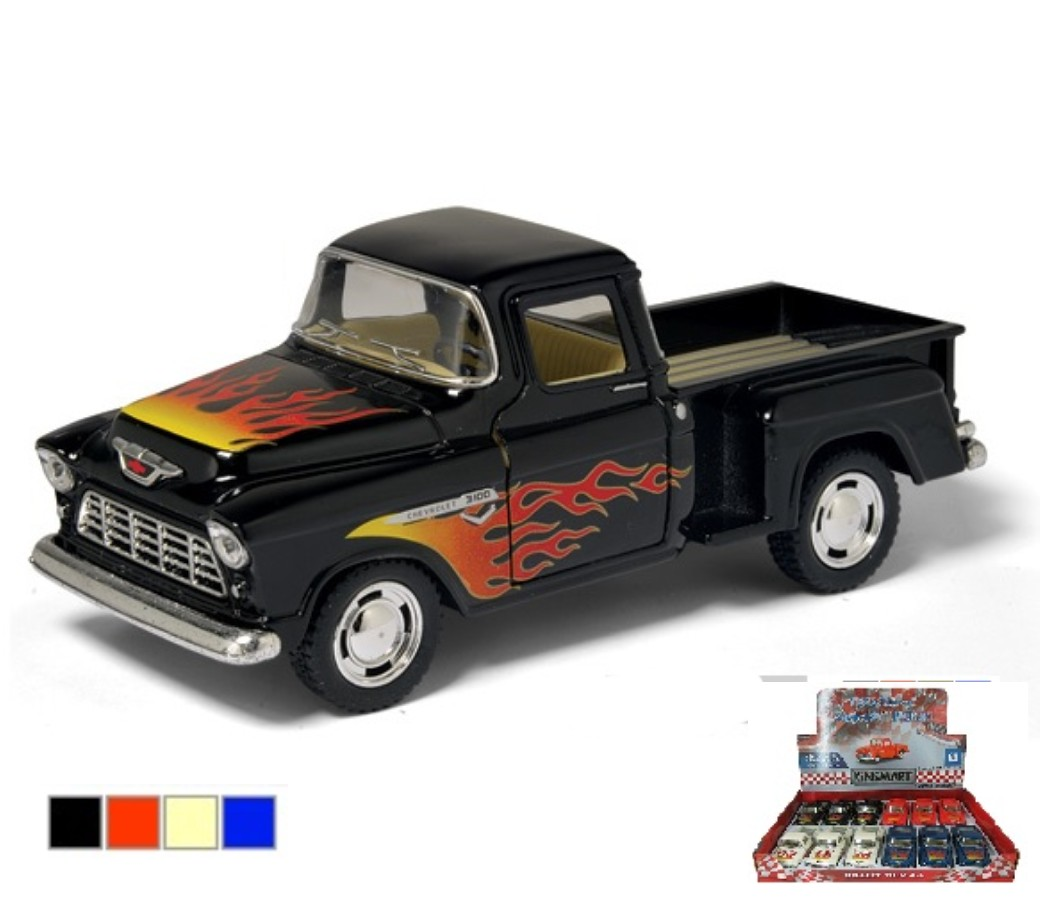 1:32 1955 Chevy Stepside Pick Up with Printing (4  Colors) KT5330DF