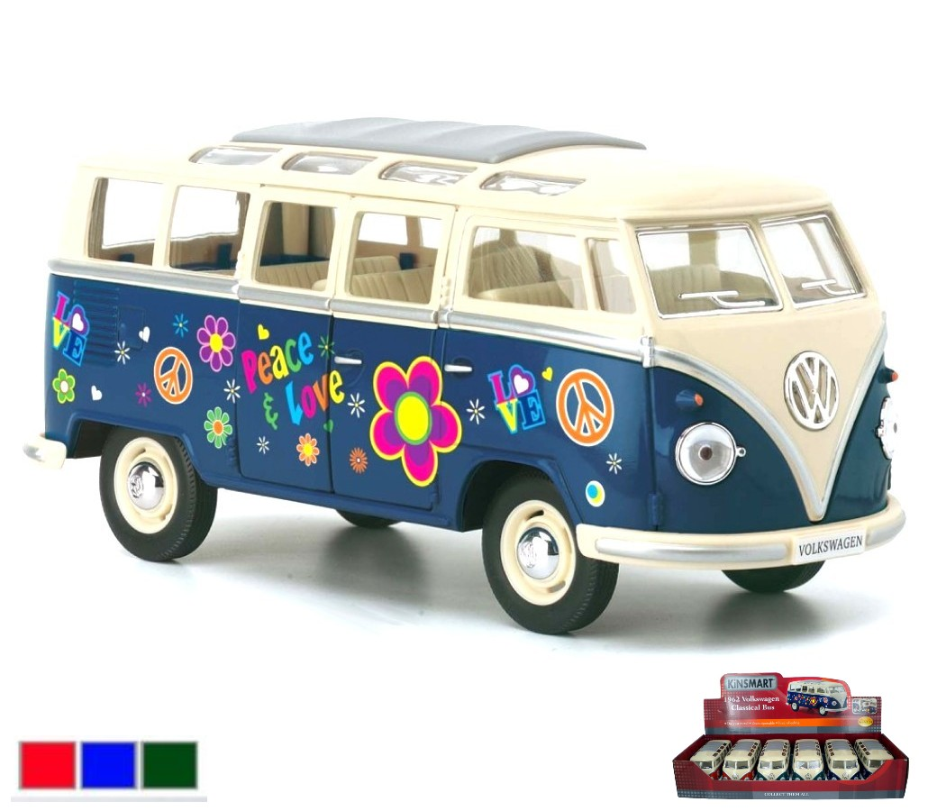1:24 Volkswagen Classical Bus with Printing 1962 KT7005DF