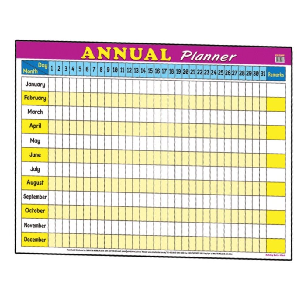 Educational Chart Annual Planner (MM01768)