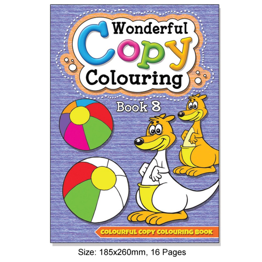 Wonderful Copy Colouring Book 8 (MM09001)
