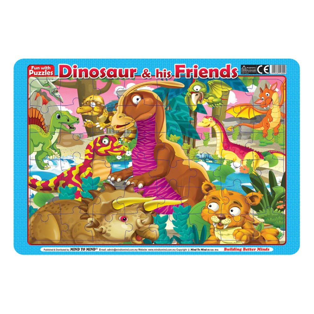 Fun With Puzzles Dinosaur & his Friends (MM16009)