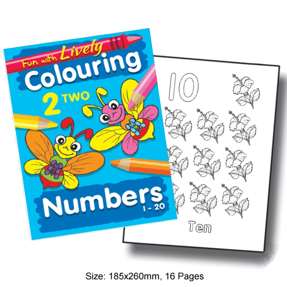 Fun with Lively Colouring Numbers 1-20 (MM68737)