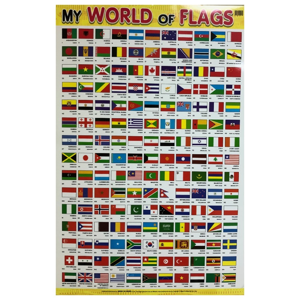 Educational Chart My World of Flags (MM69130)