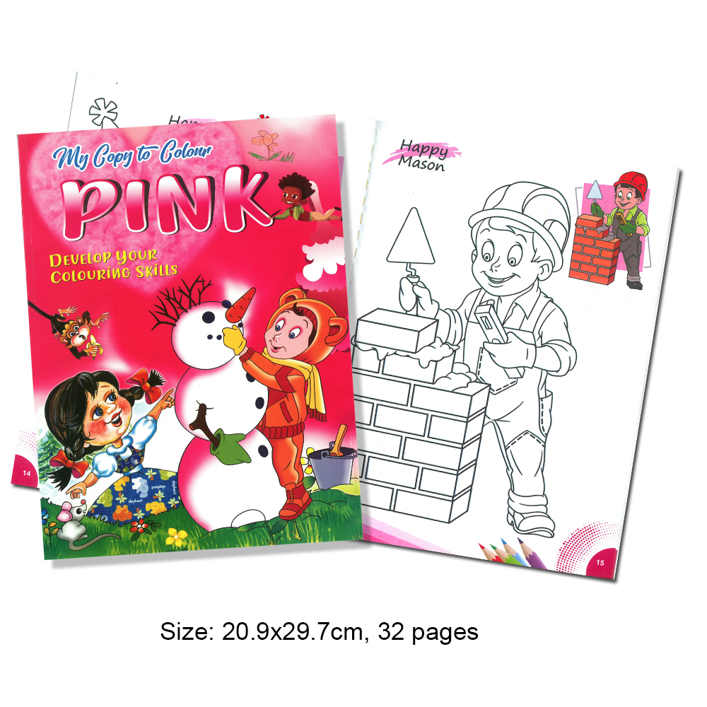 My Copy To Colour PINK Develop Your Colouring Skills (MM69185)