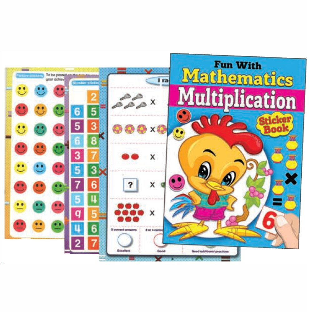Fun With Mathematics Multiplication Sticker Book (MM70609)