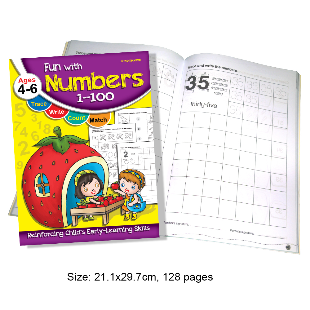 Fun With Numbers 1-100 Ages 4-6 (MM71927)