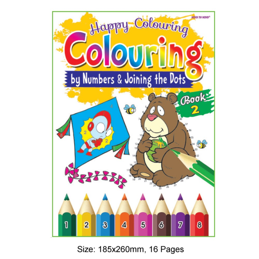 Happy Colouring Book 2 (by Numbers & Joining the Dots) (MM73358)