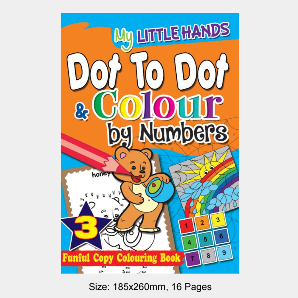 My Little Hands Dot To Dot & Colour by Numbers Book 3 (MM74966)