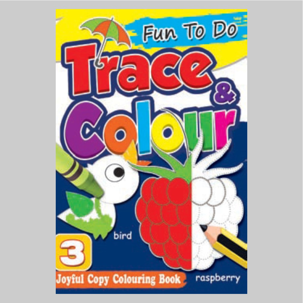 Fun To Do Trace & Colour Colouring Book 3 (MM75000)