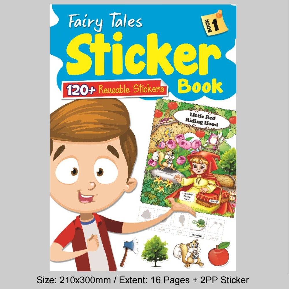 Fairy Tales Sticker Book 1 (120 + Reusable Stickers) (MM81705))