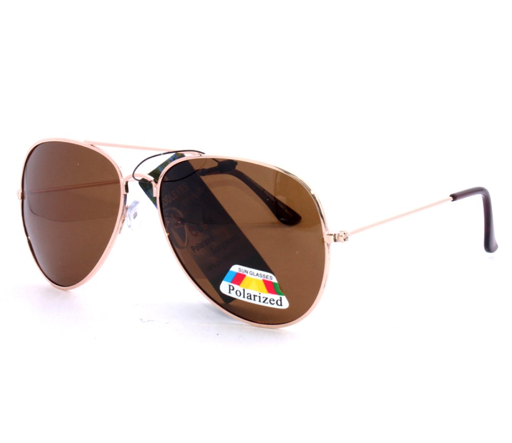 Aviator Metal Polarized Sunglasses AV008PM-1
