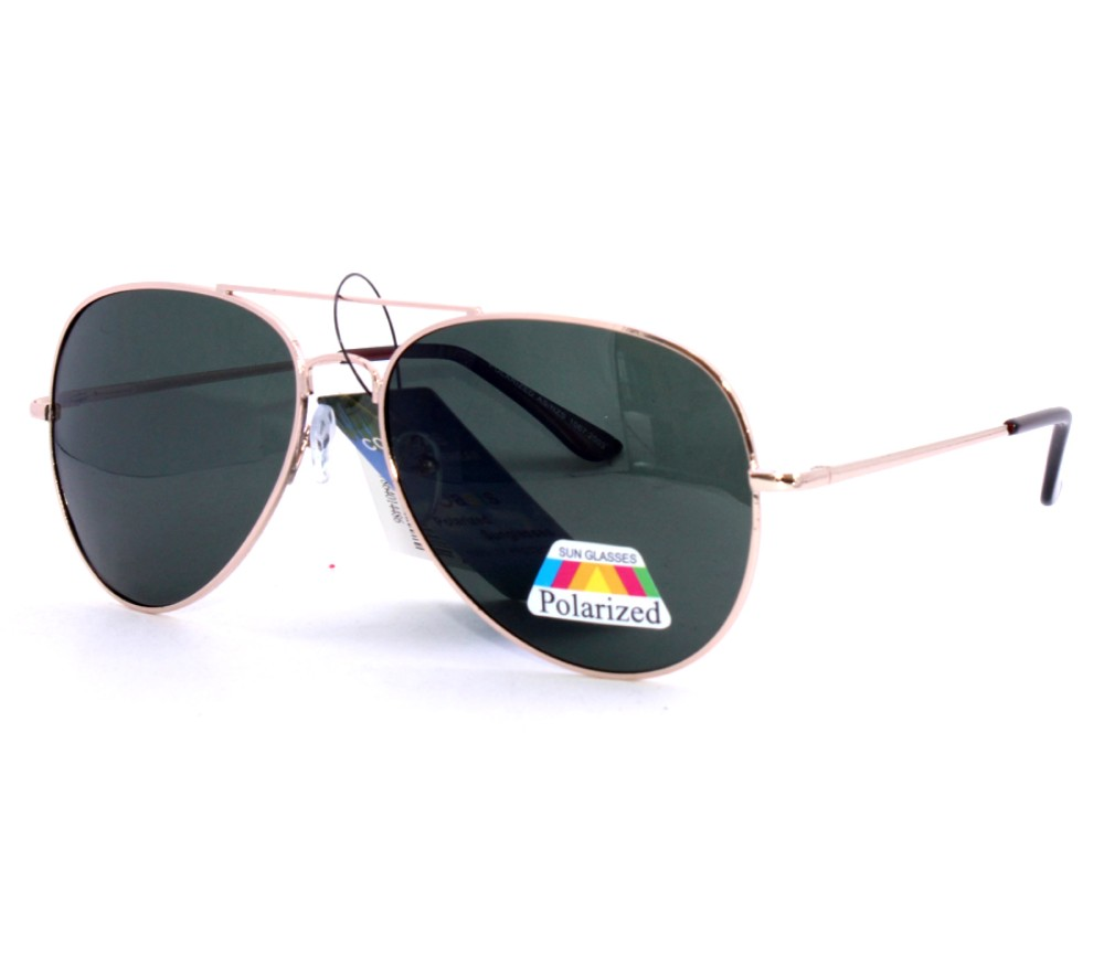 Aviator Metal Polarized Sunglasses AV011PM-1