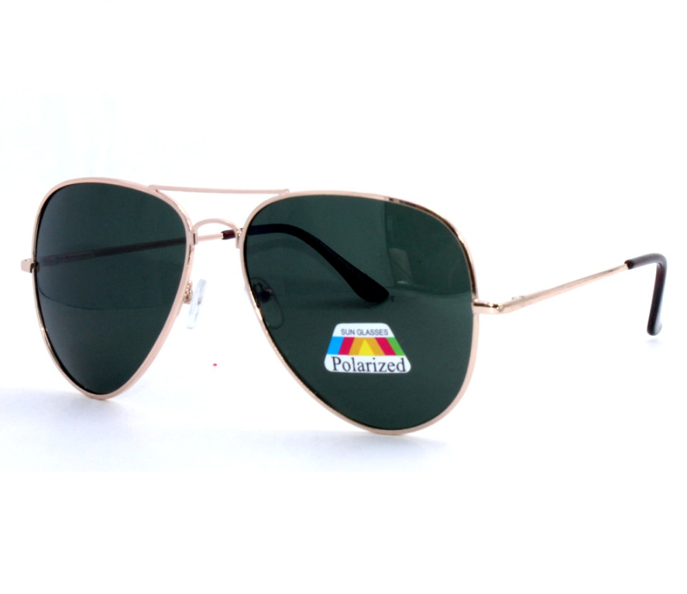 Aviator Metal Polarized Sunglasses AV012PM-1