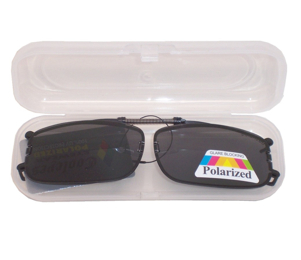 Clip on Polarized Sunglasses with Case PM6084