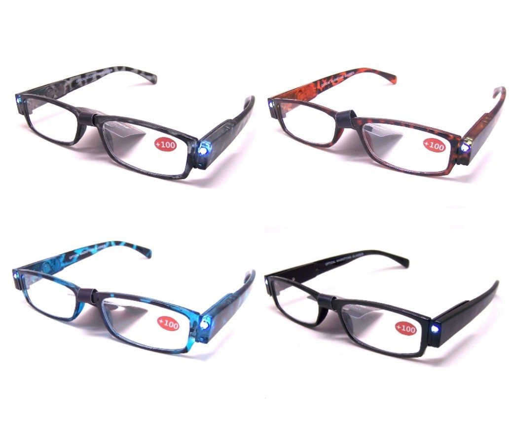 Cooleyes LED Reading Glasses with Case R9087D