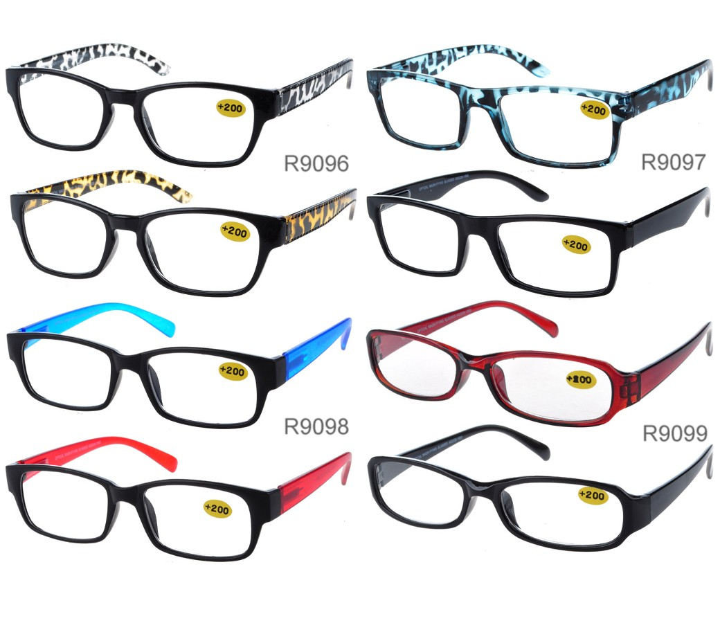 Unisex Fashion Reading Glasses Plastic Frame R9096/97/98/99