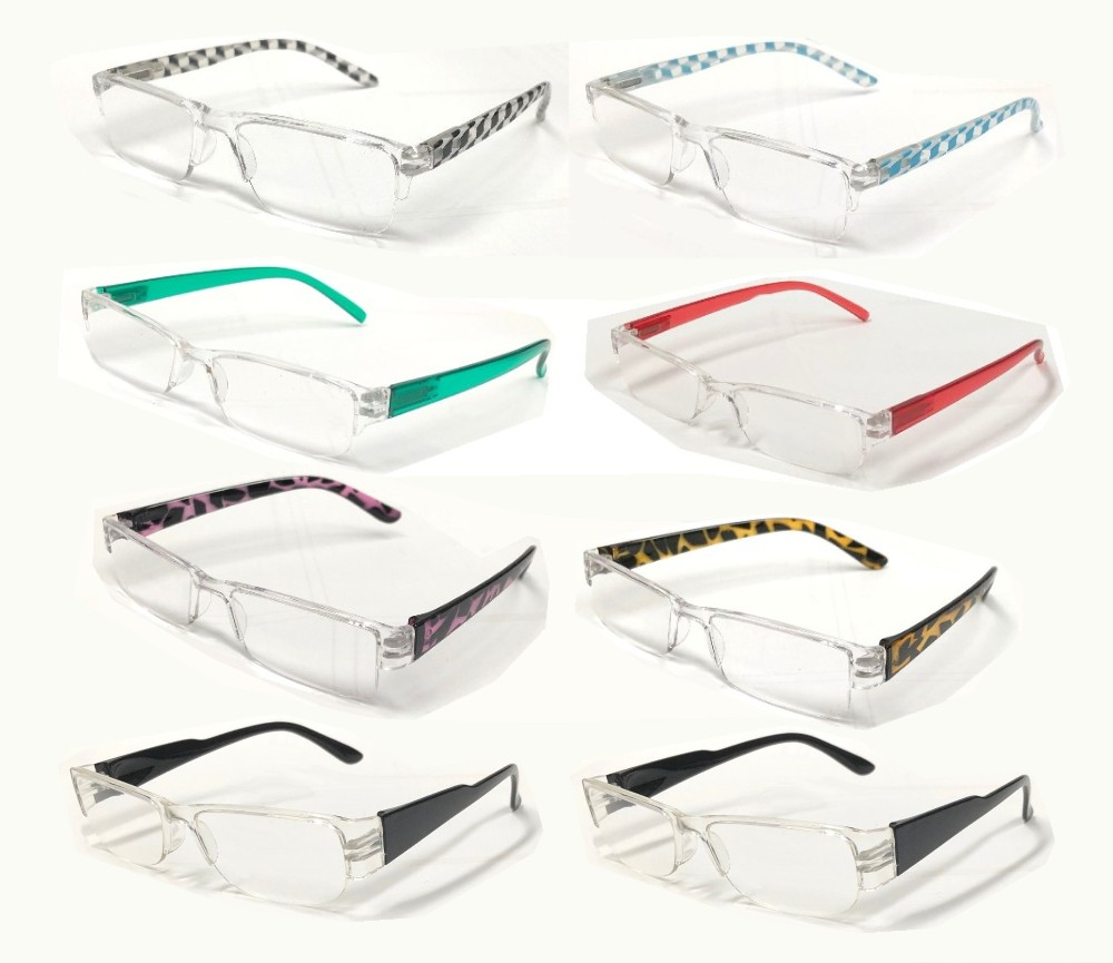 Fashion Plastic Half Rimless Reading Glasses 4 Style R9168/69/70/71