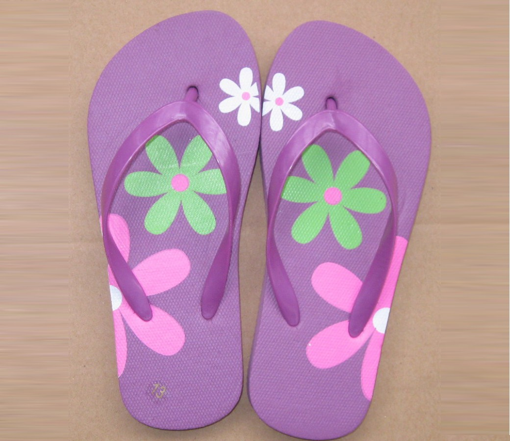 Kids Thongs - Flowers SLP-K407