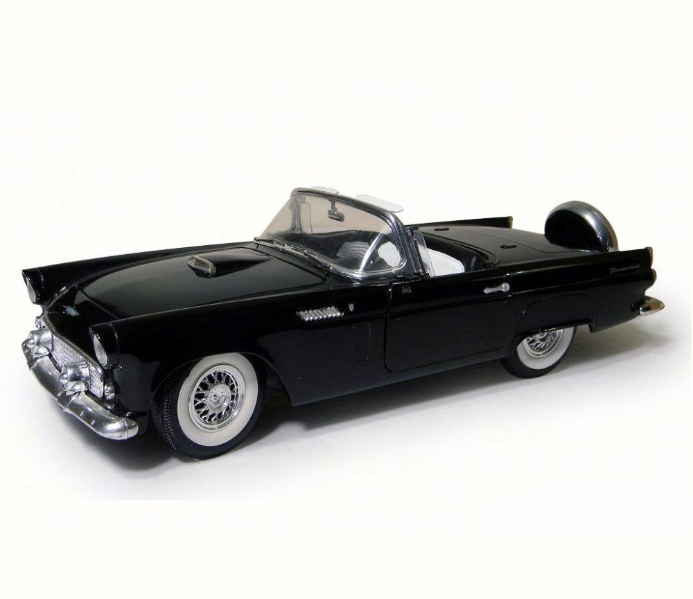 1:18 1956 Ford Thunderbird Convertible (Black) MM73173BK