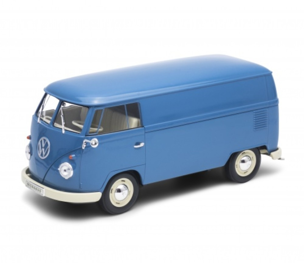 1:18 1963 Volkswagen T1 Bus (Panel Van) (Blue) WL18053W