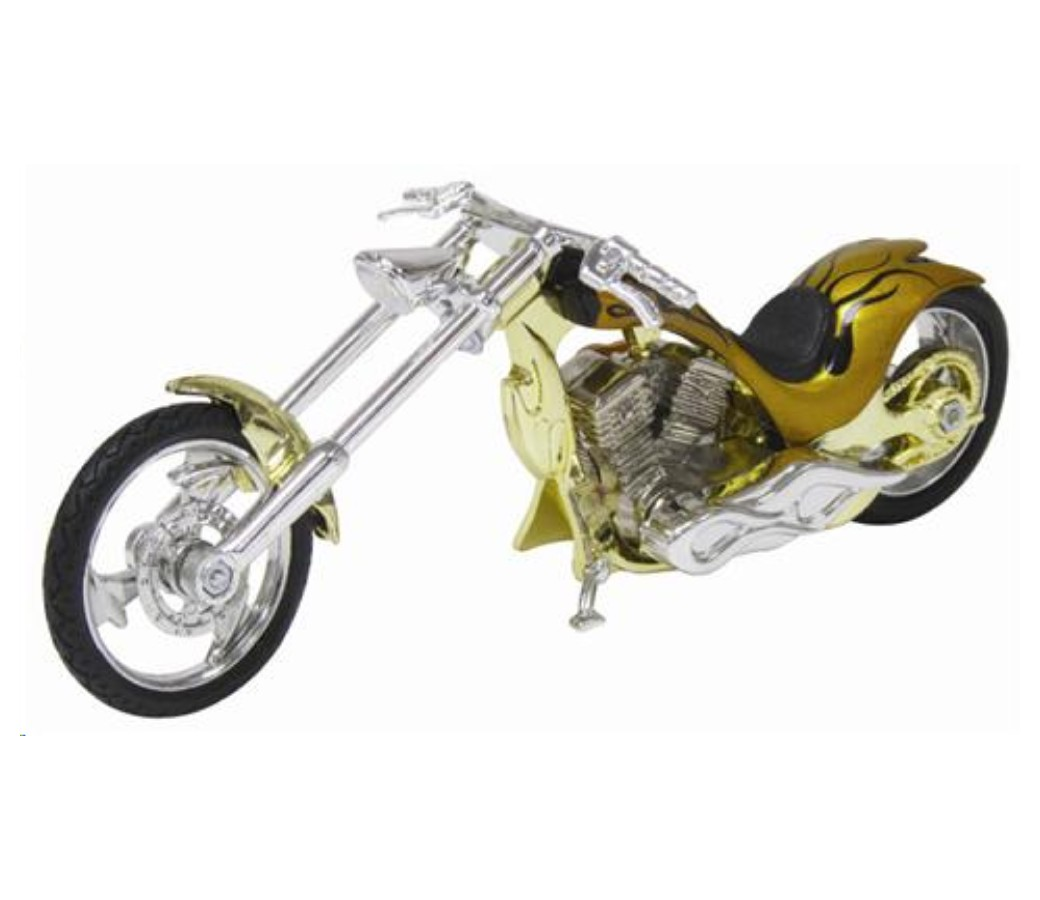 Iron Choppers 1:18 Die Cast Bike (Gold) MMM442B