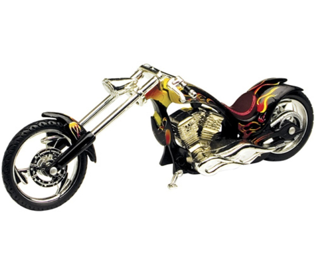 Iron Choppers 1:18 Die Cast Bike (Black) MMM442C
