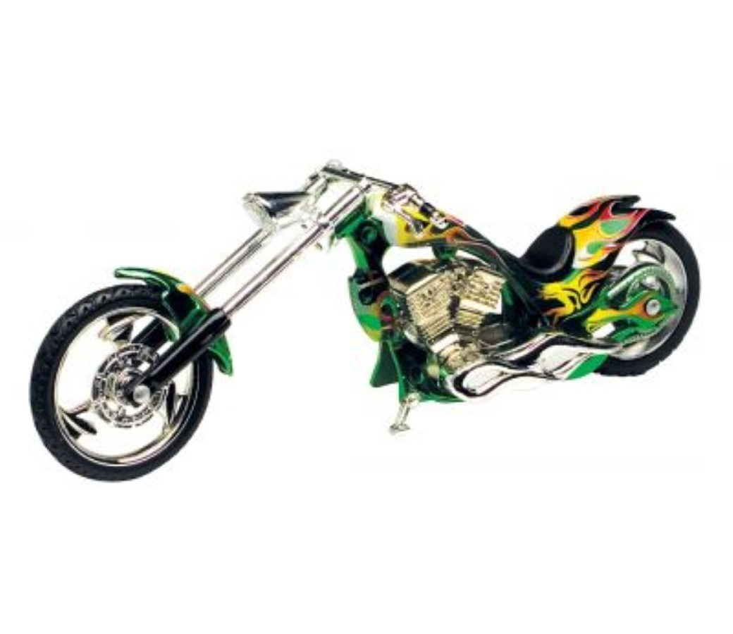 Iron Choppers 1:18 Die Cast Bike (Green) MMM442D