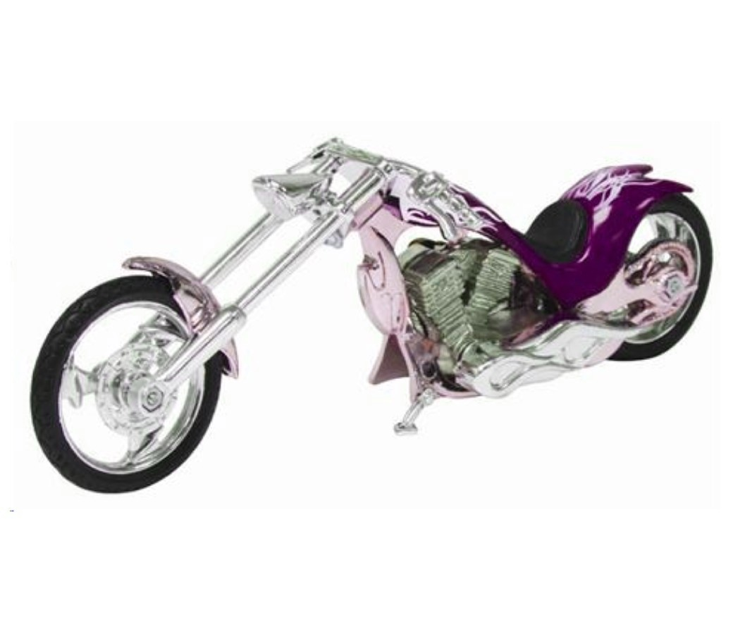 Iron Choppers 1:18 Die Cast Bike (Purple) MMM442F
