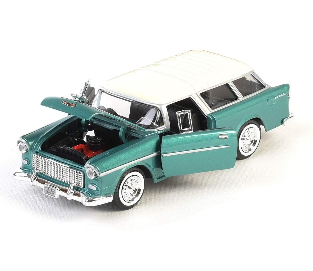 1:24 1955 Chevy Bel Air Normad (Metallic Green) MM73248MG