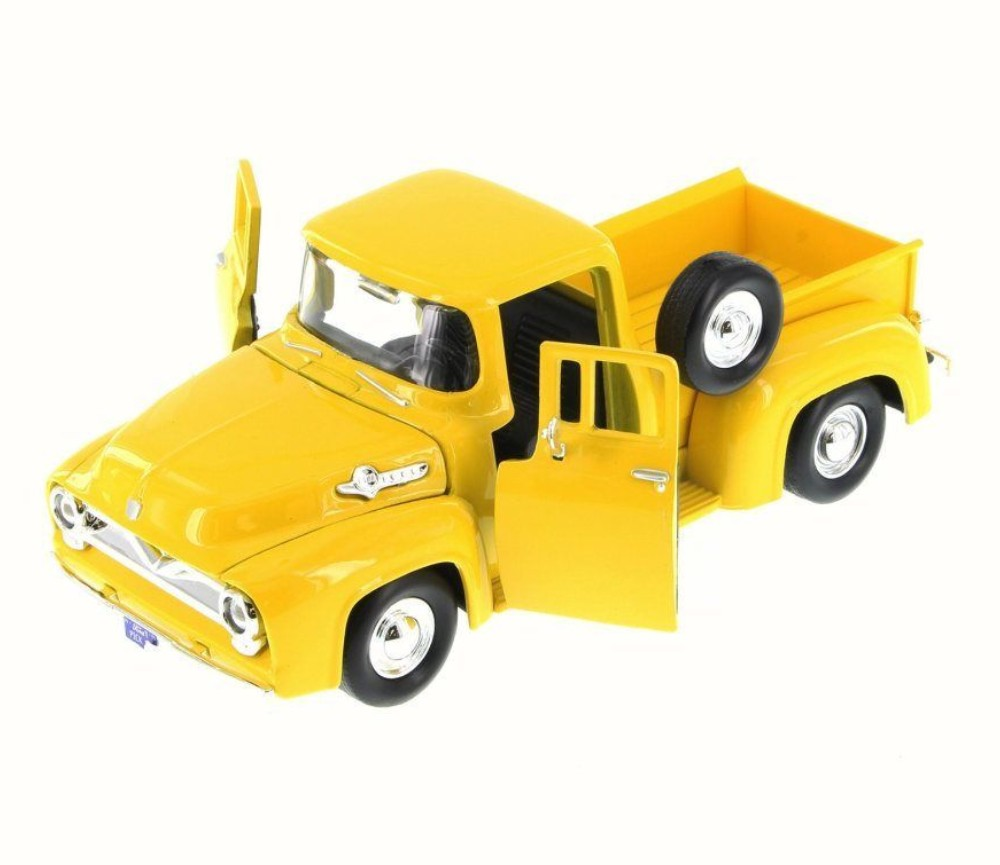 1:24 1955 Ford F-100 Pick Up (Yellow) MM79341YL
