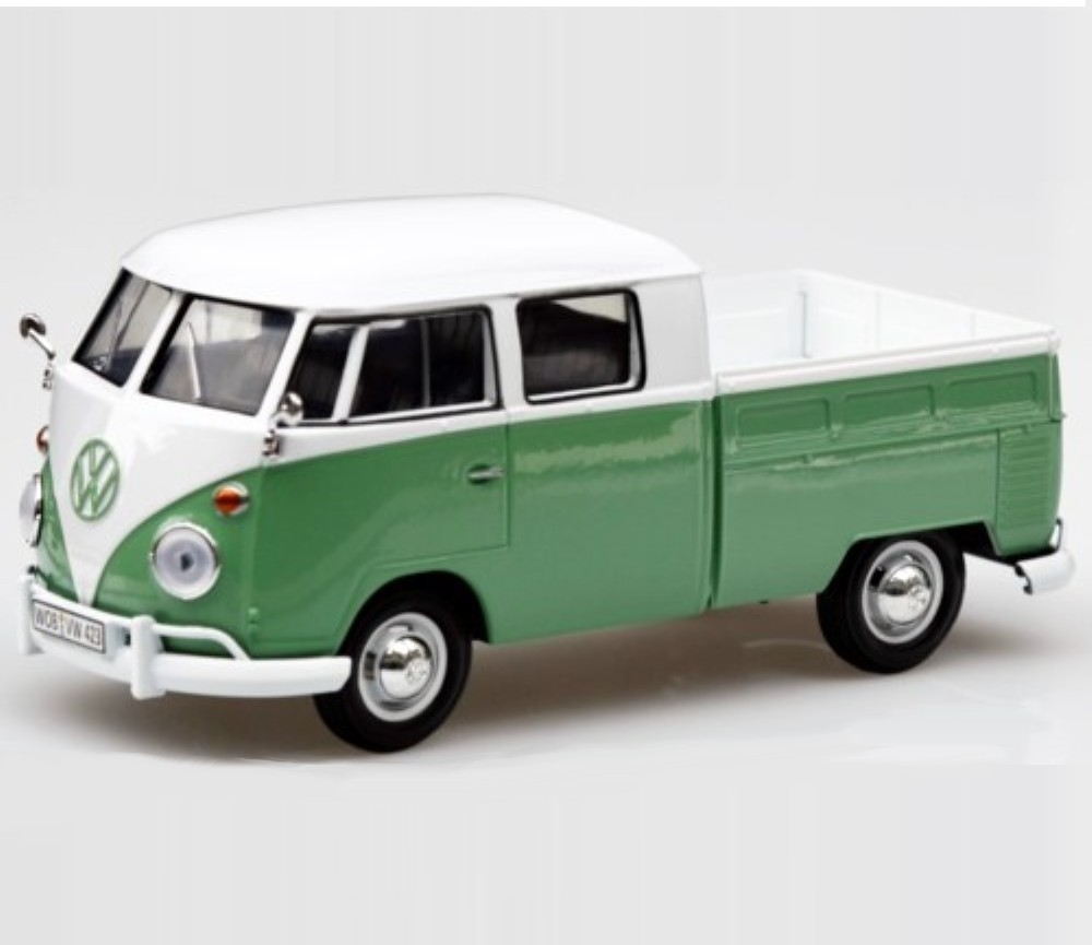 1:24 VW Type 2 (T1) Pick Up (White  Turquoise) MM79343WT