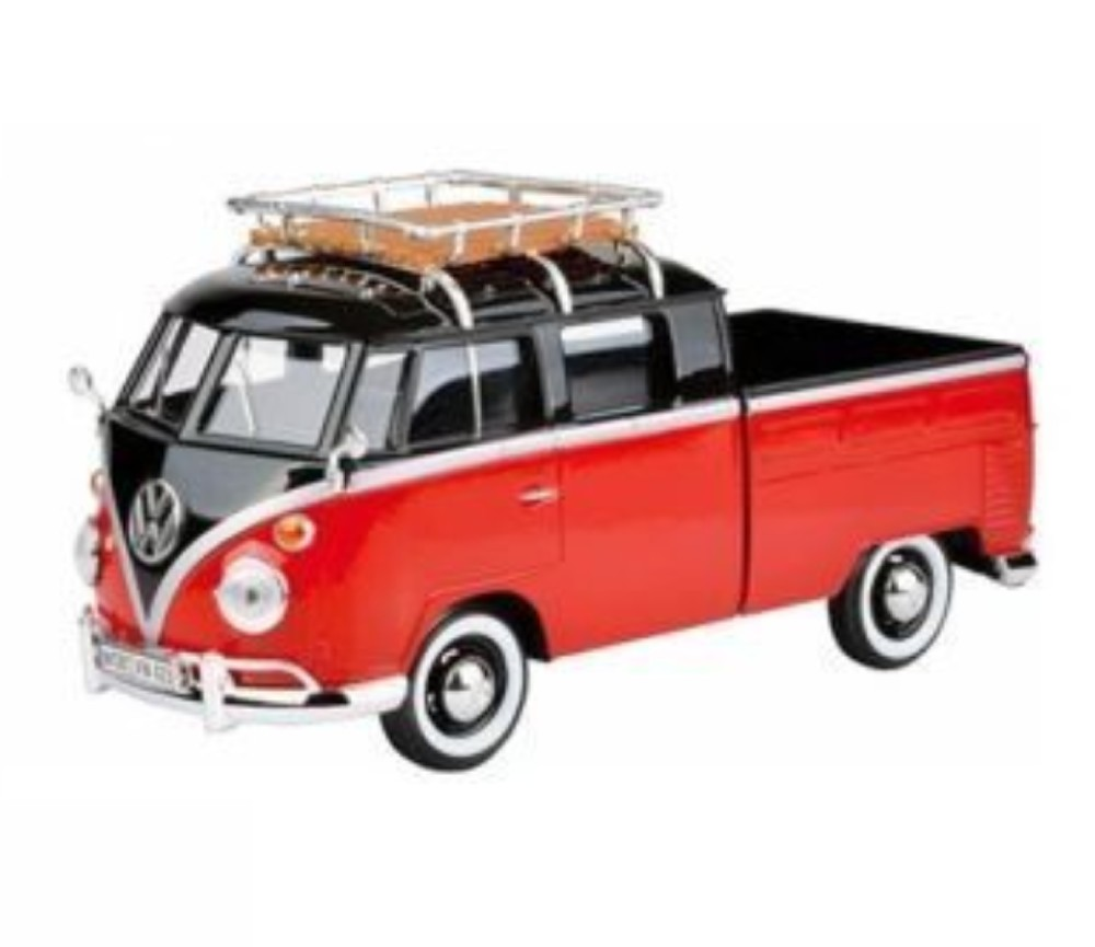 1:24 VW Type 2 (T1) - Pick-up with Roof Rack (Black/ Ruby Red) MM79552BR