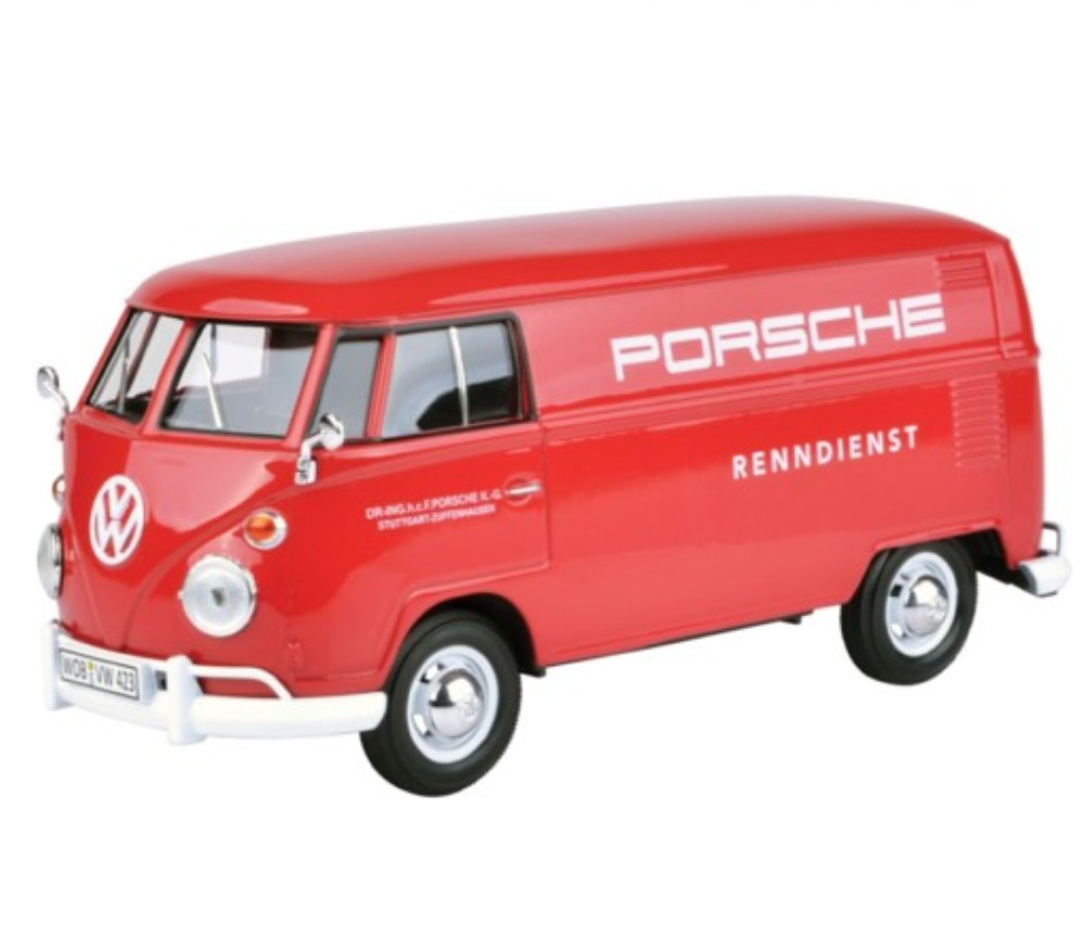 1:24 VW Type 2 (T1) - Delivery Van printed with Porsche logo (Dual License) MM79557WR