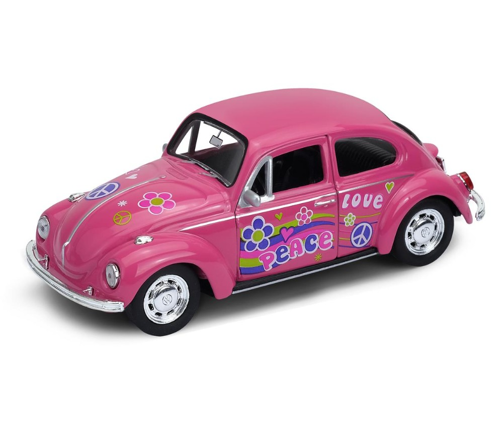 "4.75"" VW Beetle (Hard Top) with Fanny Graphic (1:34) WL42343AB-D"